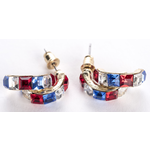 Sale sale-RWB double hoop earrings
