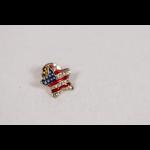 Sale sale-Puffed R,W,& B Star Tac Pin