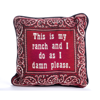 """All the Way with LBJ Ranch Pillow 12"""""""