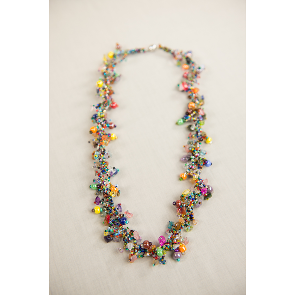 "Colorful 30"" Guatemalan Necklace"