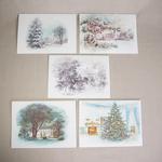 Reproduction Christmas Notecards LBJ Set/5