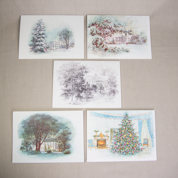 All the Way with LBJ Reproduction Christmas Notecards LBJ Set/5