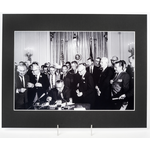 Civil Rights 11x14 Matted Photo: Signing of Civil Rights Act 1964