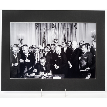 Civil Rights 11x14 Signing of Civil Rights Act of 1964 Matted Photo