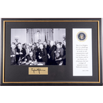 Civil Rights Civil Rights Signing Framed Montage
