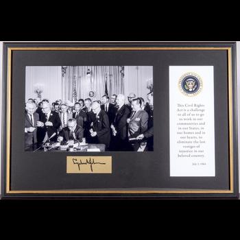 Civil Rights Civil Rights Signing Framed