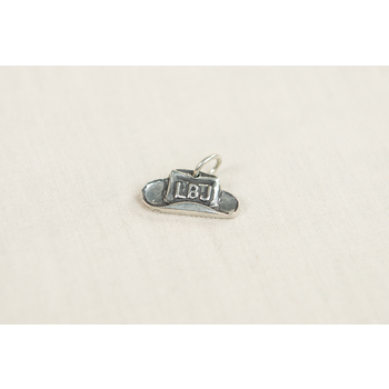 All the Way with LBJ Pewter LBJ Hat Pendant