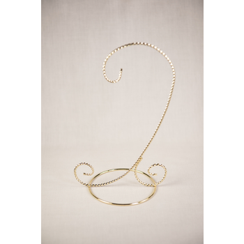 """Holiday 8.25"""" Brass Ornament Stand"""