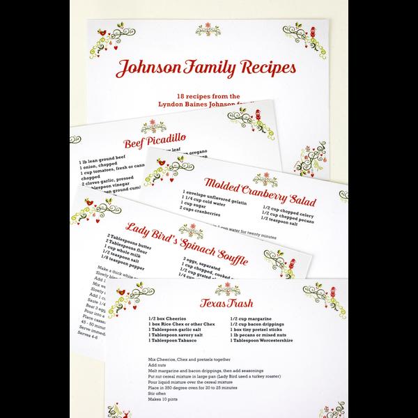 Johnson Family Recipe Cards - Set 20