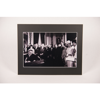 Civil Rights 11x14 Voting Rights Act of 1965 Matted Photo