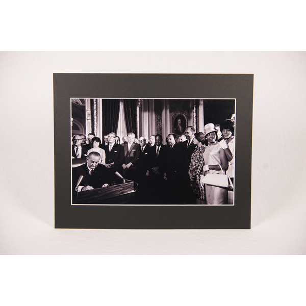 Civil Rights Voting Rights Act of 1965 11x14 Matted Photo
