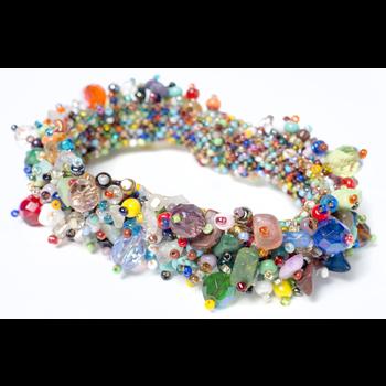 Fuzzy Beaded Bracelet asstd colors