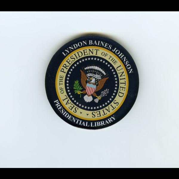 "Americana Presidential Seal LBJ Magnet 2"" Acrylic"