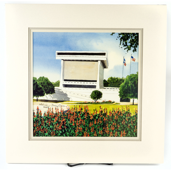 All the Way with LBJ LBJ Library Watercolor by Mary Doerr