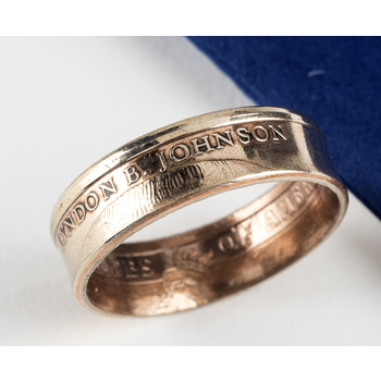 Sale Custom LBJ Coin Ring