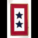 Americana Double Blue Star Service Flag Lapel Tac Pin