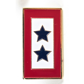 Americana Double Blue Star Service Flag Lapel Tac Pin