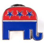 Americana Elephant Lapel Tac Pin