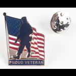 Americana Proud Veteran Lapel Tac Pin