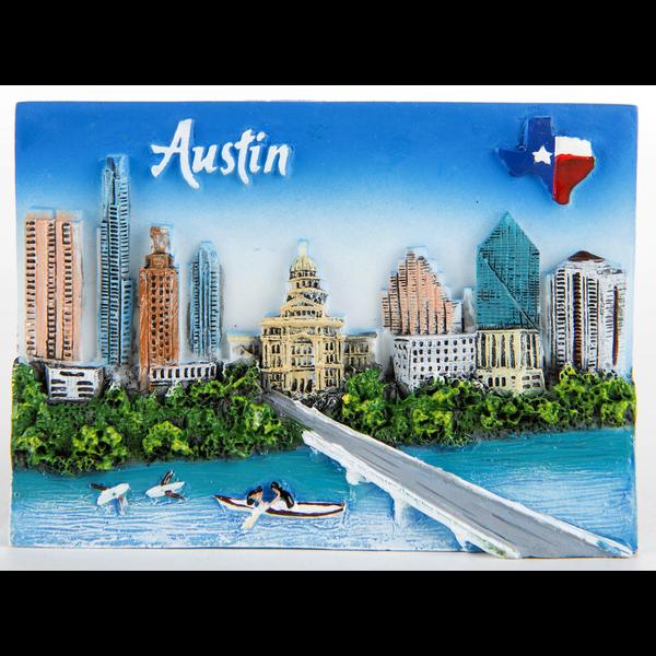 Austin & Texas Austin 3D Resin Magnet