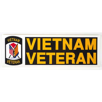 Americana Vietnam Veteran Bumper Sticker