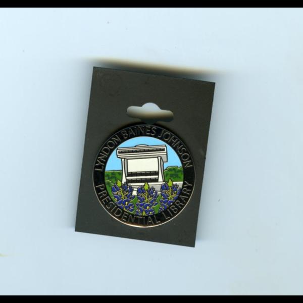 LBJ Library Bluebonnet Lapel Pin