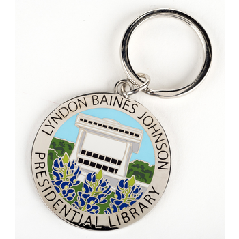 All the Way with LBJ LBJ Library Bluebonnet Key Ring