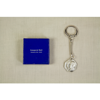 All the Way with LBJ Johnson/Humphrey Inaugural Ball Keychain Sterling Silver