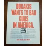 Anti-Dukakis Flyer (Gun Control)