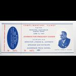 All the Way with LBJ Original Senator Johnson 1960 Dinner Ticket
