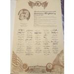 1981 Reagan Inauguration Governor's Reception Certificate