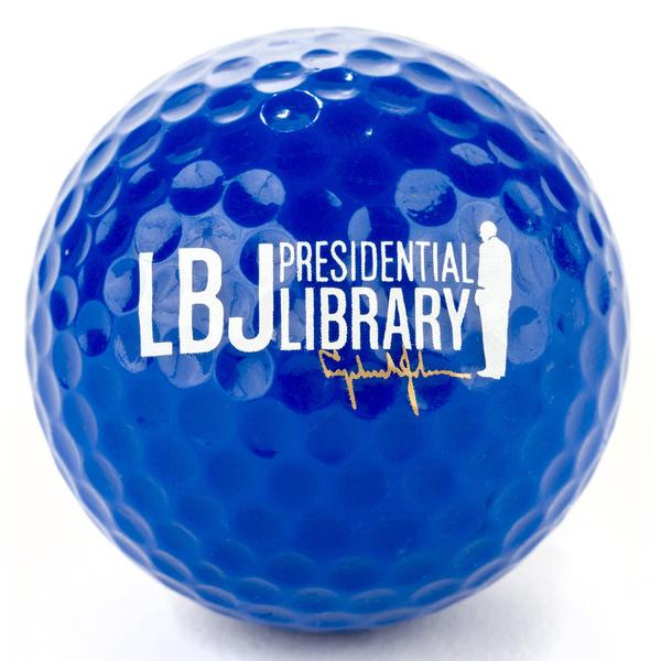 LBJ Presidential Library Blue Golf Ball