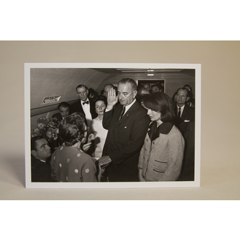 All the Way with LBJ LBJ 1963 Sworn in as President Postcard