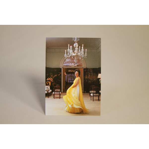 Lady Bird Johnson Lady Bird Johnson Inaugural Yellow Dress Postcard
