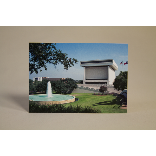 All the Way with LBJ LBJ Presidential Library Exterior 2001 Postcard