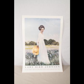Lady Bird Johnson Lady Bird Johnson Portrait by Shikler Poster