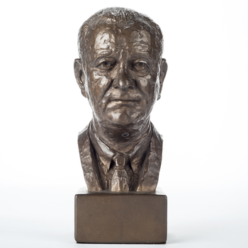 """All the Way with LBJ LBJ Bust 9.5"""" w/Bronze Finish from 1966"""