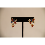Americana RWB Star Cluster Earrings