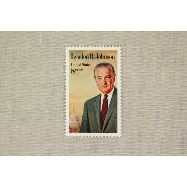 All the Way with LBJ Original Collectible LBJ Stamp