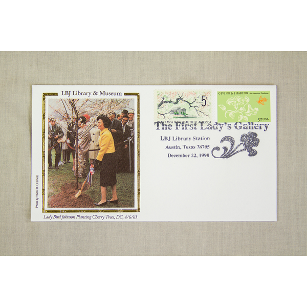 Lady Bird Johnson First Lady's Gallery Special Cancellation 12-22-1998