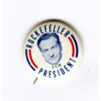 New York Governor Nelson Rockefeller 1970 Rocky Campaign Pin Back Local Button