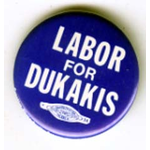 Labor For Dukakis blue