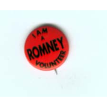 I am a Romney (Sr.)  Volunteer - Gov Race