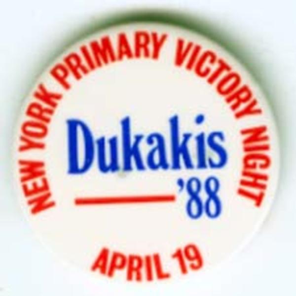 Dukakis NY Primary '88