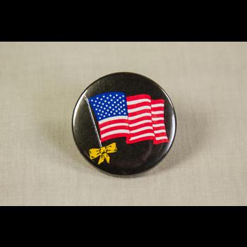 Desert Storm Black Flag Button
