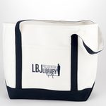 All the Way with LBJ LBJ Llibrary Canvas Tote Bag