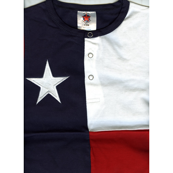 Just for Kids TEXAS FLAG ONESIE
