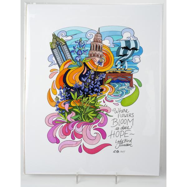 "Lady Bird Johnson Lady Bird Johnson Quote 11""x14"" Print by Becca Borrelli"