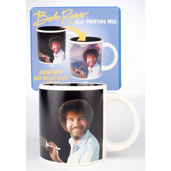 Americana Bob Ross Self-Painting Mug