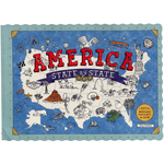 Just for Kids America State by State: 50 Placemats To Color